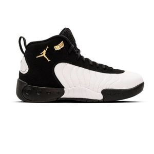Black white and gold Jordan jumpman pro